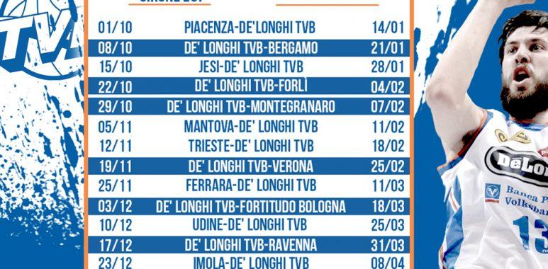 Treviso Basket Calendario.Il Calendario Della A2 Girone Est La Prima Fuori Casa A