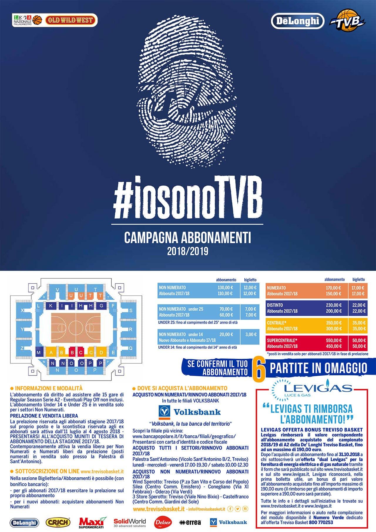 Locandina #iosonoTVB - Campagna Abbonamenti TVB 2018/19