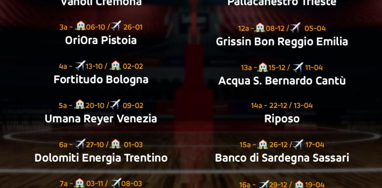 Treviso Basket Calendario.Il Calendario Della De Longhi Tvb In A1 Partenza Di Lusso