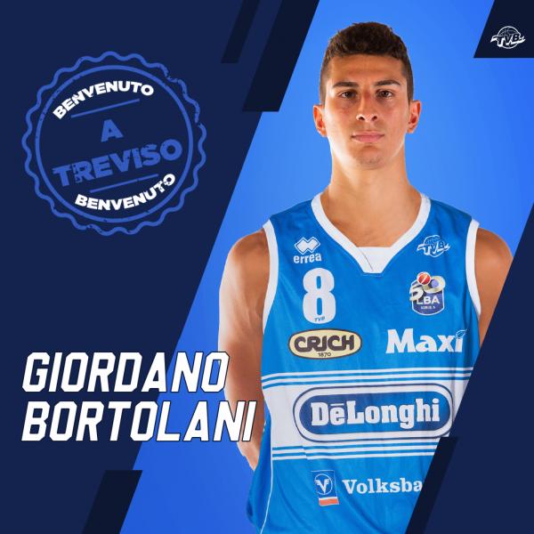 Giordano Bortolani passa in prestito alla De' Longhi Treviso Basket