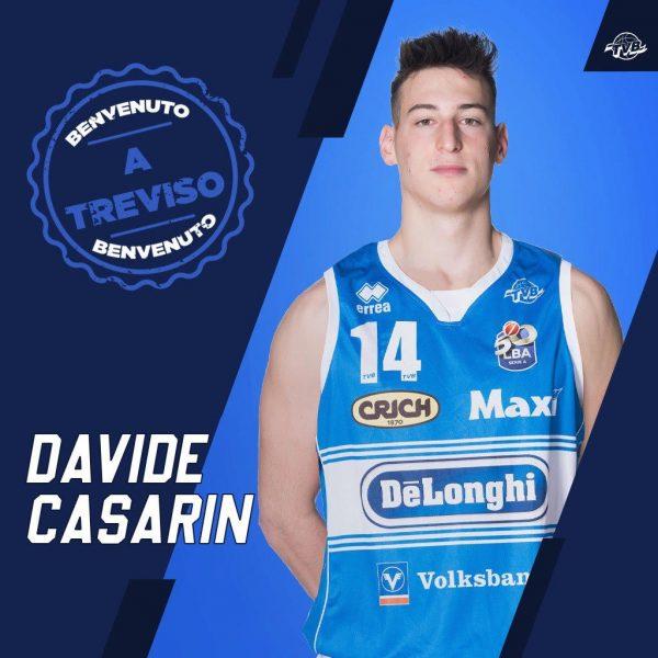 Treviso Basket, arriva Davide Casarin in prestito biennale dalla Reyer Venezia